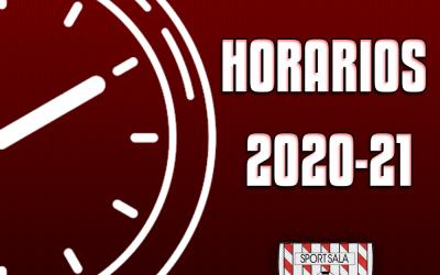 HORARIOS DE ENTRENAMIENTO TEMPORADA 2020/21