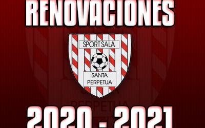 RENOVACIONES ENTRENADORES 2020/21